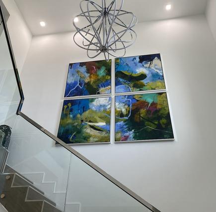 Custom Staircase & 12 Foot Ceilings