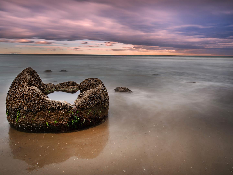 Moeraki boulders - sunset 3