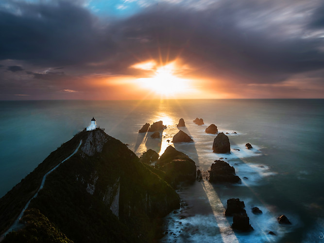 Nugget point - sunrise
