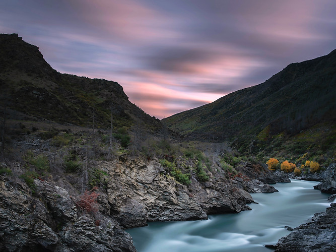 Shotover river - sunset