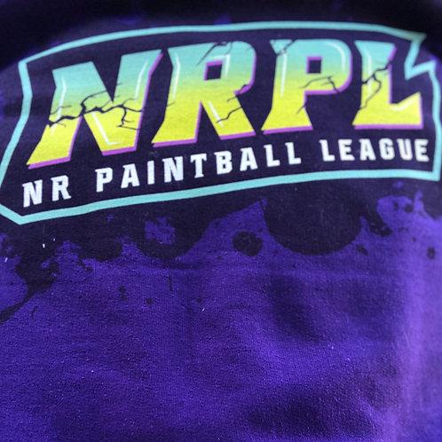Purple NRPL Splatter Hoodie