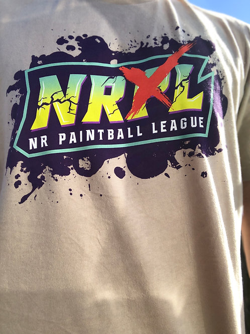 Tan NRXL Splatter T-Shirt
