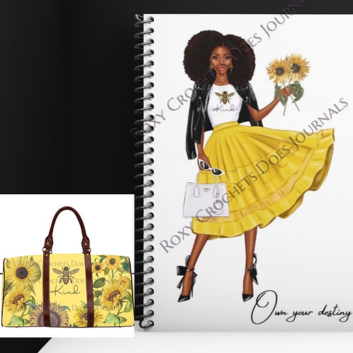 Bee Happy Matching Journal and Travel Bag (Pre Order)