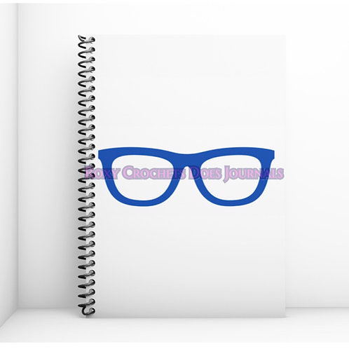 White with Blue Glasses Journal