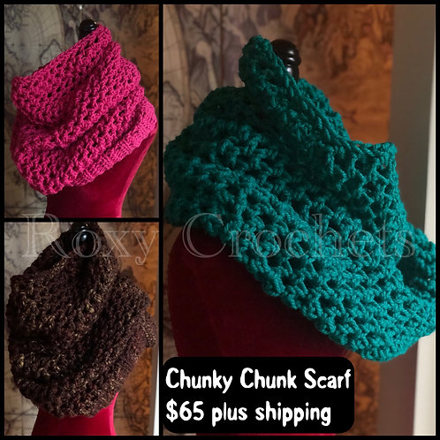 Chunky Chunk Scarf (Pink or Green only)