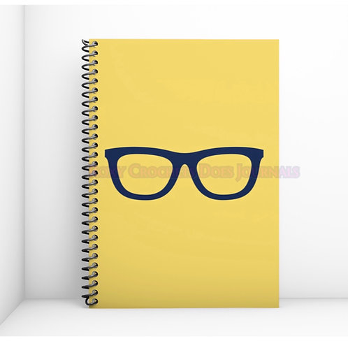 Yellow with Blue Glasses Journal