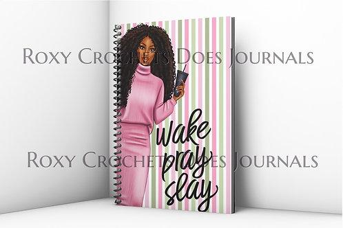 Wake Pray Slay Journal (Pink)