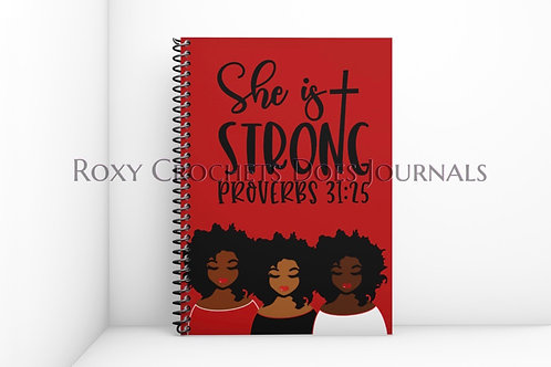 She is Strong: Red and White Journal and Travel Bag Set (Pre-Order)