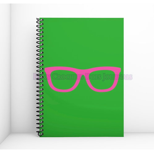 Green with Pink Glasses Journal