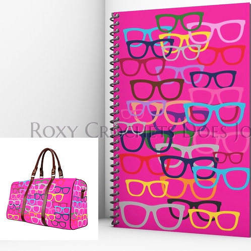Pink Glasses Matching Journal and Travel Bag (Pre Order)