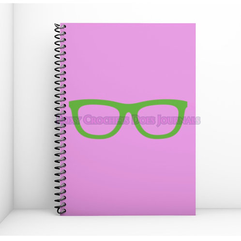 Pink with Green Glasses Journal