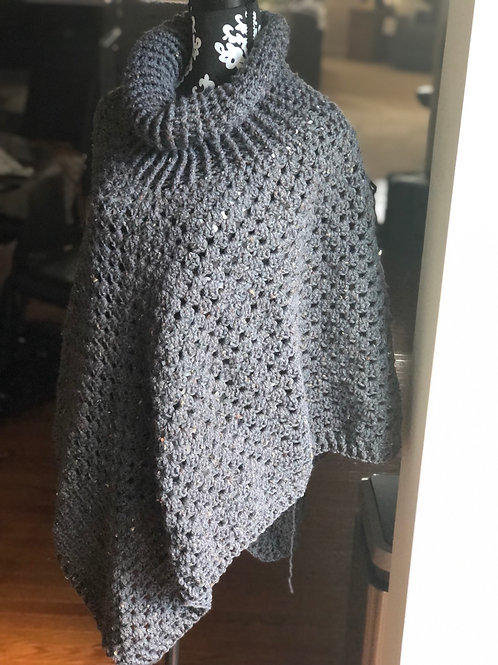 Grey Speck Extended Poncho