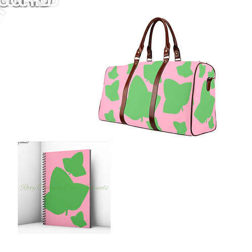 Pink Ivy Matching Journal and Travel Bag (Pre Order)