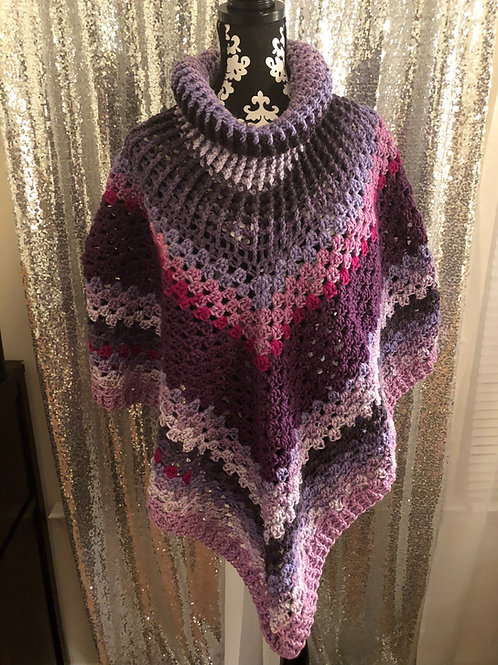 Purple Unicorn Poncho