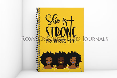 She is Strong: Blue and Gold Journal