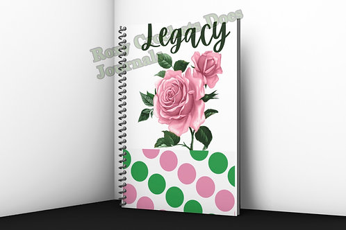 Legacy Inspired Journal - Pink Roses and Polka Dots