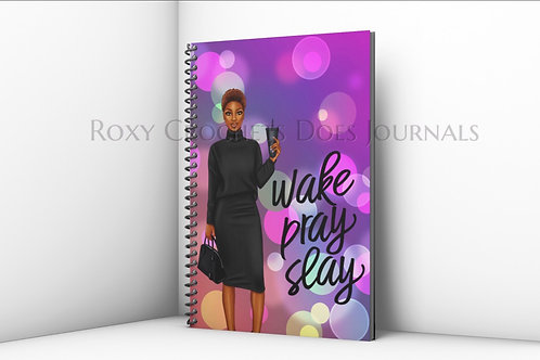 Wake Pray Slay Purple Journal