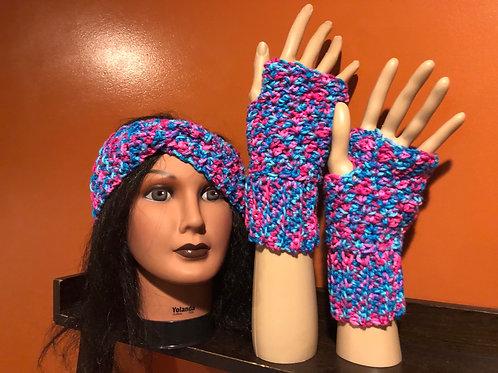 Blue multi Gloves Set