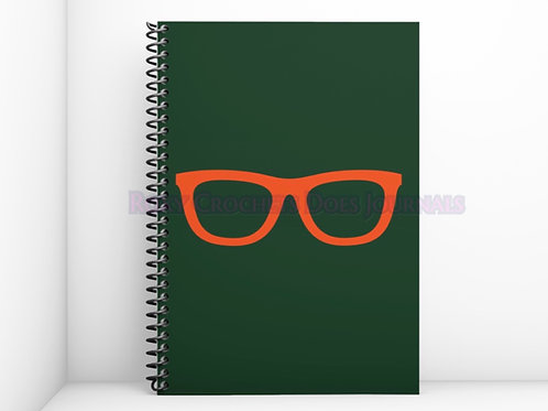 Green with Orange Glasses Journal