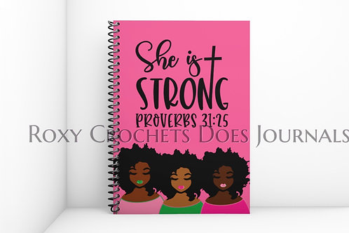 She is Strong: Pink and Green Journal and Travel Bag (Pre-Order)