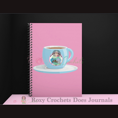 Pink JnJ Tea Cup Journal