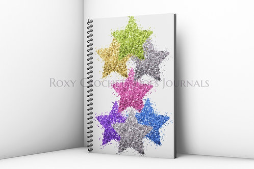 Colorful Glitter Stars Journal