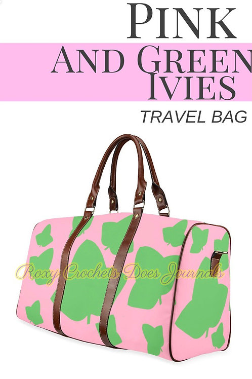 Pink and Green Ivies Travel Bag (Pre Order)