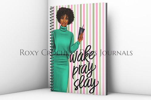 Wake Pray Slay Journal (Green)