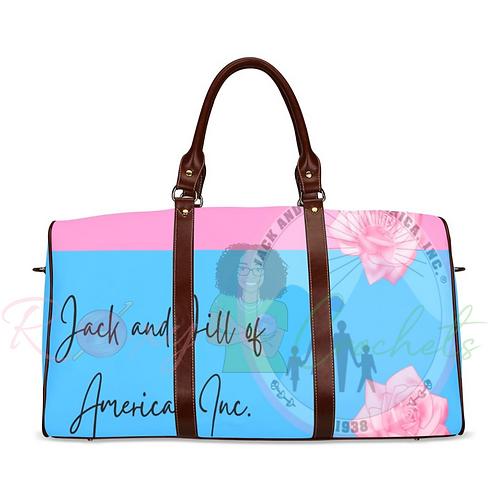 JnJ Pink and Blue Soft Logo Travel Bag (Pre Order)