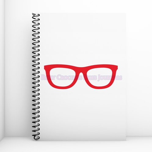 White with Red Glasses Journal