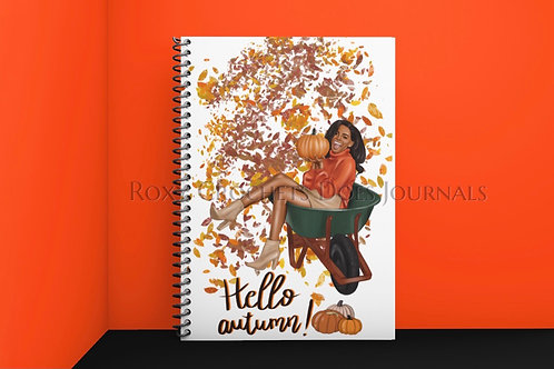 Hello Autumn:  Multi Ethnic in orange
