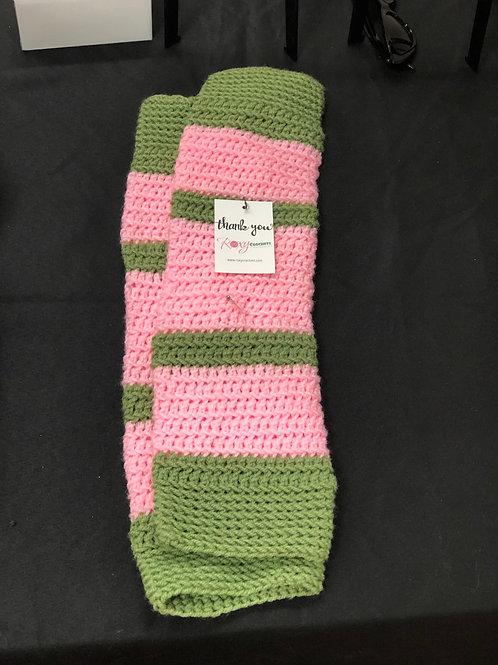 Pink and Green Legwarmers