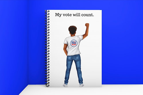 My Vote will Count (Male) Journal