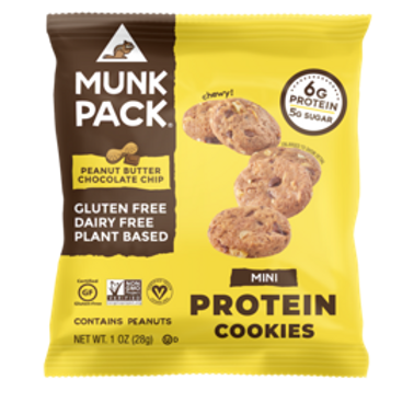 Munk Pack Mini Protein Cookies - Peanut Butter Chocolate Chip