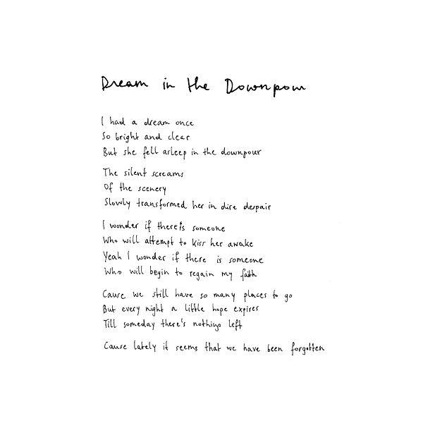 3. Dream In The Downpour lyrics.jpg