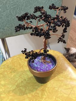 Black & copper wire Tree