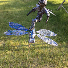 Ace surfing on a dragonfly