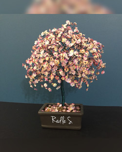 Pink Sparkle Tree with White Moonstones