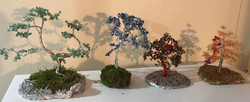 The 1st 4 trees created with wire