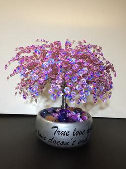 Pink Rondelle Sparkle Tree