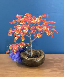 Nelda & her Carnelian Sparkle Tree