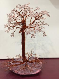 Lady in the Tree - Rose Quartz Stone