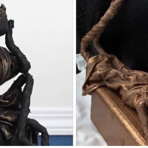 Paverpol Beginner Girl Figurine - T-shirt Wrap - Garden Statue