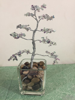 Fluorite Stone & wire Tree