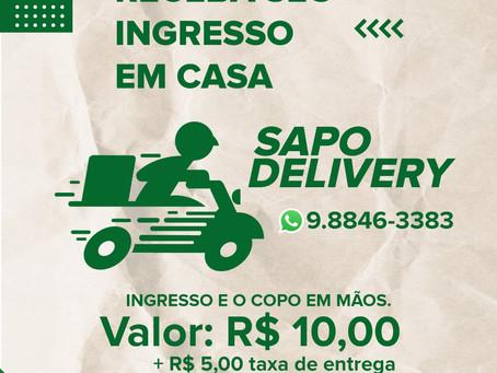 Chame o Sapo Delivery e receba seu ingresso na hora