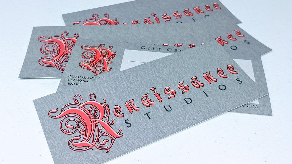 Renaissance Studios Gift Certificate