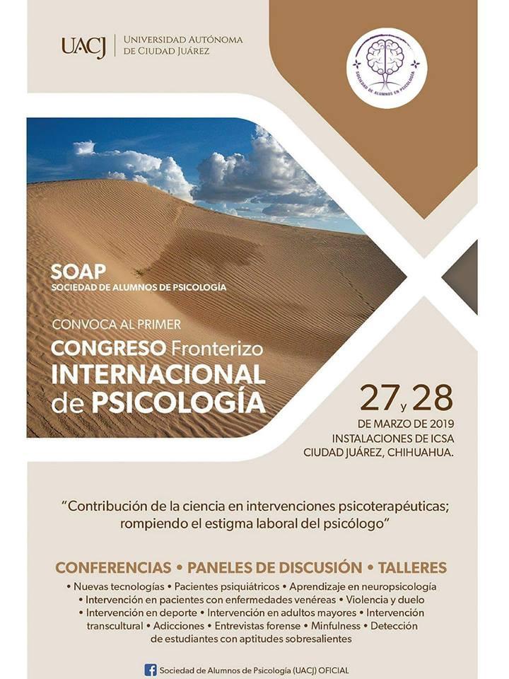 Realizan el Primer Congreso Fronterizo  Internacional de Psicología