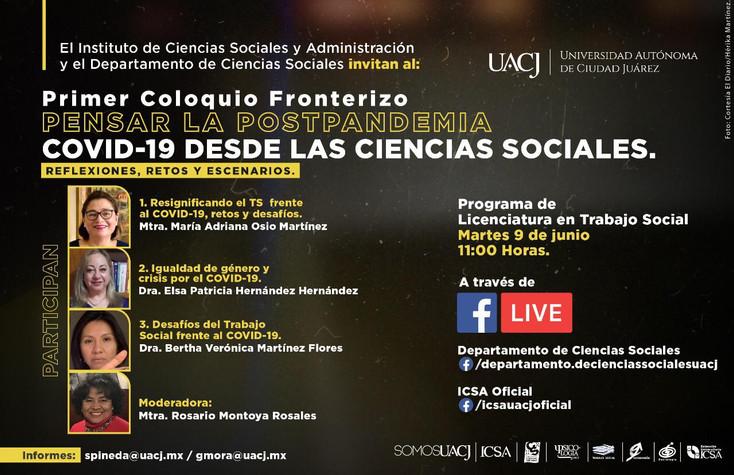 Con temas entorno al Trabajo Social inicia el Primer Coloquio Fronterizo sobre COVID-19