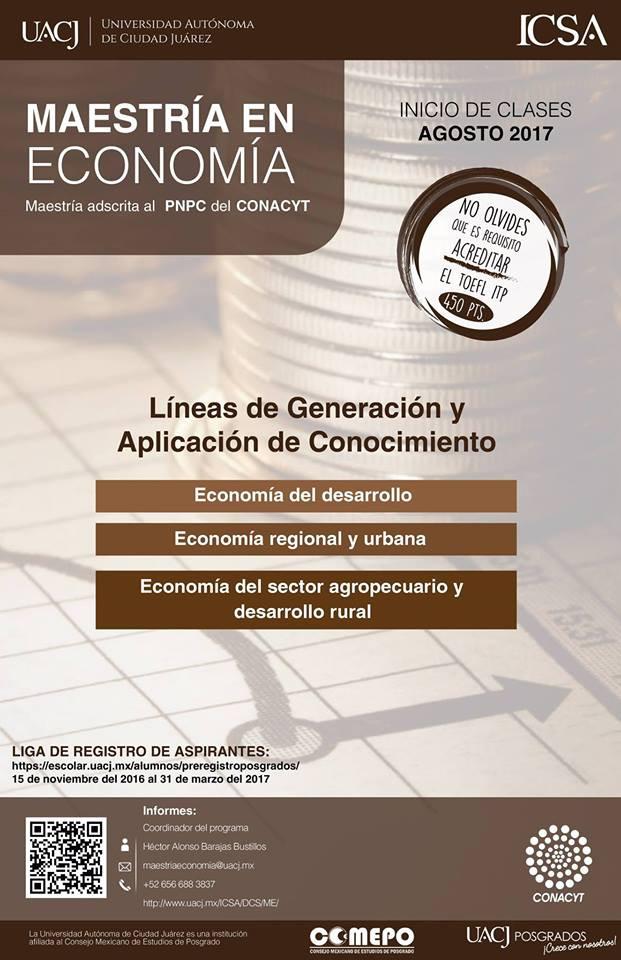 POSGRADOS: Maestría en Economía
