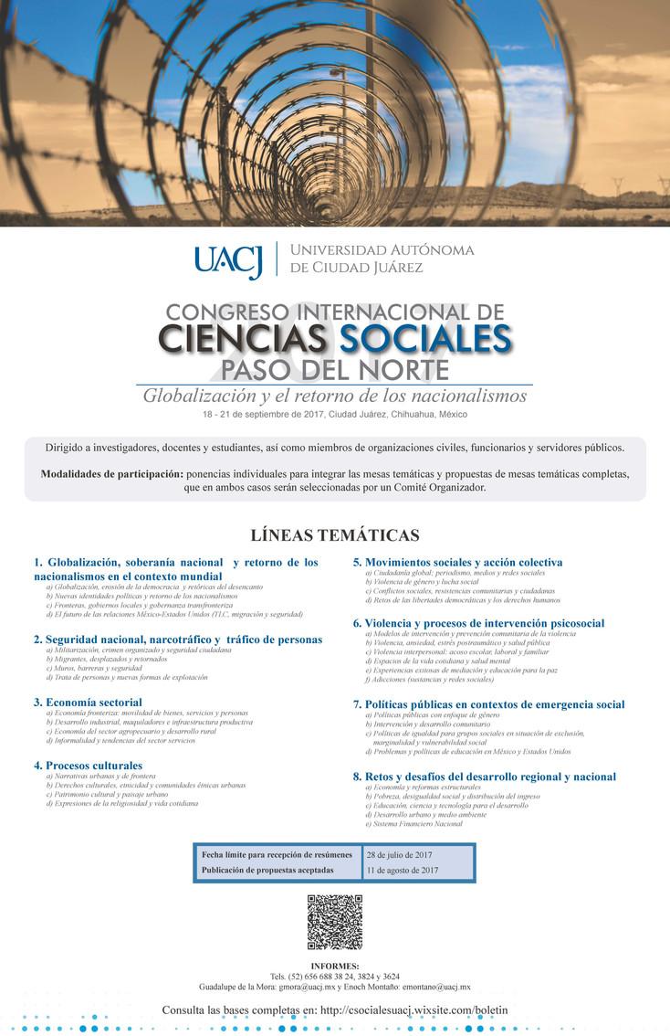 Invitados y Cátedras del Congreso Internacional de Ciencias Sociales 2017